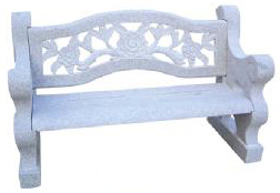 Hand carved stone Victorian Style Bench